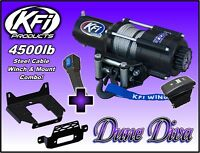 4500lb KFI Steel Winch Mount Combo - 2010-18+ Can-Am Commander 800 1000 E Max