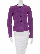 STUNNING NWT $2,360 PURPLE SUEDE DSQUARED2 JACKET