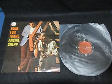 Archie Shepp Four for Trane Japan Original Vinyl LP in 1965 Reggie Workman