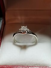 Princess Pave Diamond Engagement Ring & Accents .23ct tw 10K White Gold