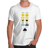 Twisted Envy Men's Weekly Weather Forecast Cotton T-Shirt