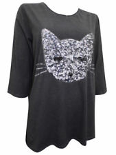 3/4 Sleeve Machine Washable Cat Tops & Blouses for Women