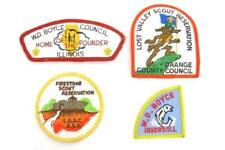 4 Vintage Boy Scout Patches Council WD Boyce Orange County and Reservations BSA