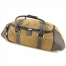 Dunhill Boston bag Brown Canvas Leather Mens Authentic Used T8687