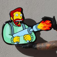 Idiot Box Art Simpsons HANK SCORPIO Wooden Wall Art SIGNED LIMITED EDITION 🔥