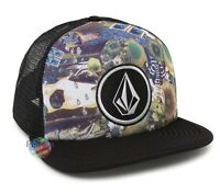 NEW Volcom Print Coast Cheese Snapback Trucker Cap Hat