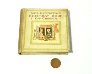 Kate Greenaway's Birthday Book for Children Frederick Warne Illust Miniature