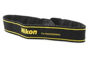 *MINT* Genuine NIKON CAMERA NECK SHOULDER STRAP FOR PROFESSIONAL Black / Yellow