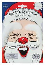 Bianco Uomo Cespugliose Babbo Natale Adesivo Finta Costume Vestito Sopracciglia