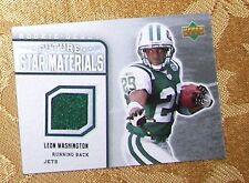 LEON WASHINGTON Jets 2006 Upper Deck Future Stars Materials Rookie Debut Jersey