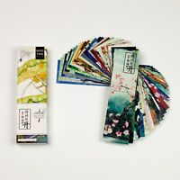 Pack of 30 paper bookmarks of Chinese birds and flowers and scenery #B0015