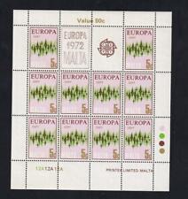Malta Europa 1972 Communication 5¢ MNH pane of 10, sc#452  [149]