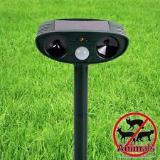 Solar Sensor PIR Motion Activated Animal Sprinkler Repeller Scarecrow Adjustable