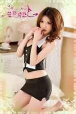 Fancy Dress Sexy Secretary Uniform Cosplay Costume Outfit Office Roleplay 53