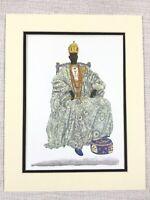 1965 Vintage Print Nigerian King Ademola II Alake of Abeokuta Yoruba Africa