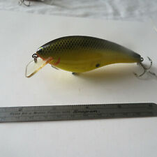 """FISHING LURE  BAGLEY  4""""   MINNOW  BLACK BACK & SCALES & YELLOW BODY"""