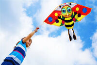 For Children Outdoor Toys Beach Cartoon bee Kite with Single Line Kite Flying