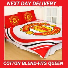 MANCHESTER UNITED FC FOOTBALL CLUB FITS QUEEN DOONA QUILT DUVET COVER SET,SOCCER