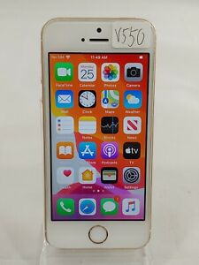 Apple iPhone SE A1662 32GB AT&T GSM UNLOCKED Smartphone Cell IOS 13.3 Gold V550