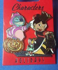 Stitch as Cheshire Lilo as Queen Hearts Scrump WDI Disney Pin Halloween LE 250