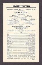 "Guy Robertson ""NINA ROSA"" Armida / Margaret Carlisle 1931 New Haven Broadside"