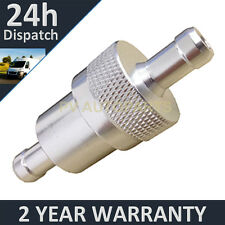 "SILVER 1/4"" METAL UNIVERSAL IN LINE FUEL FILTER ANODISED ALUMINIUM"