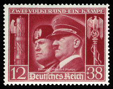 EBS Germany 1941 Hitler-Mussolini Brothers-in-Arms Michel No. 763 MH*