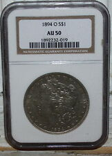 1894 O Morgan Dollar NGC AU50