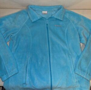 Columbia Women's Blue Full-zip Fleece Jacket (sz: 1X)