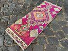Entryway rug, Doormats, Turkish rug, Handmade rug, Wool, Geometric | 1,1 x 2,9 f