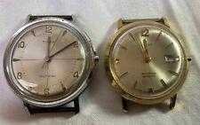 Lot of 2- Vintage 1961 Timex Self Winding & Timex Waterproof Aquatic Wrist Watch