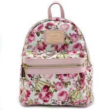 Loungefly Disney Beauty and the Beast Belle Floral Flower Mini Backpack WDBK0349