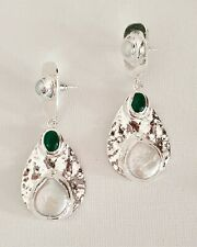 Silver Hammered Freshwater Pearl Disc Stone Earrings Other Bloggers Stories