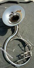 "SOUSAPHONE 16""BELL BRAND NEW OF PURE BRASS  CHROME POLISH + FREE CASE & MOUTHPC"