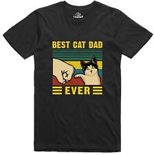 Best Cat Dad Funny Mens T Shirt Regular Fit Cotton Tee