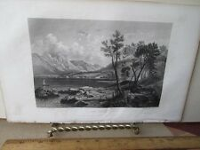 Vintage Print,LAKE COMS,Ladies Repository,c1857