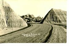 Gateway-Badlands-Scenic Dirt Road-South Dakota-RPPC-Vintage Real Photo Postcard