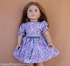 Doll Clothes fitting 18 inch Dolls Purple Alphabet Dress Cute