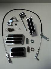 Billet Aluminum Gas Pedal/ Brake & Clutch /Black Throttle Cable / Bracket Spring