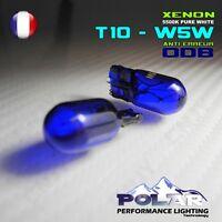 2AMPOULE XENON T10 W5W LED HID VEILLEUSE BLANC ANTI ERREUR ODB FIAT GRANDE PUNTO