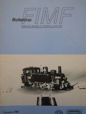 Bollettino treni FIMF n°193 Locomotiva 835 Rivarossi in scala H0 - [TR.33]