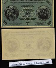 Russia Germany Ostland Wi in nord - 10 Punkte - 1943/1944, KR#38