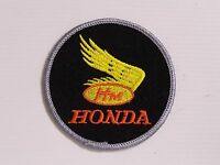 HONDA MOTORCYLES EMBROIDERED PATCH ROUND 80mm WOVEN CLOTH BADGE SEW-ON RACING R