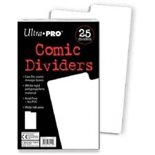 (50x) Ultra Pro Comic Book Dividers All Size Comics Wide Write Index Tab 2x 25pk