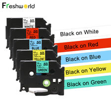5 Pk TZe-231 431 531 631 731 Compatible with Brother P-Touch  Label Tape 12mm