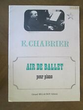 AIR DE BALLET pour piano BY E CHABRIER