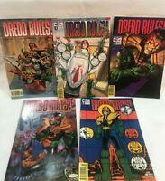 Lot of 5  DREDD RULES Comics  (1986 Series)  Fleetway Quality