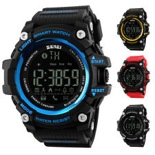 SKMEI Mens Bluetooth Digital Watche Call Reminder Pedometer Calories Chronograph