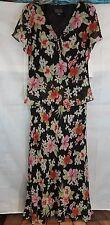 Spenser Jeremy~100% Silk-Short Sleeve-Long, Maxi Dress-Vintage-New w/tags-Sz 12