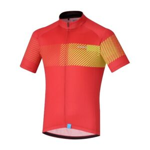 Black Size XL Shimano Men/'s Premium Windflex Silver L//S Cycling Jersey Red